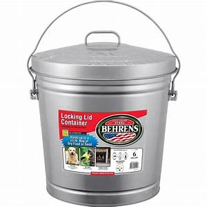 Shop Behrens 6-Gallon Silver Indoor/Outdoor Garbage Can at