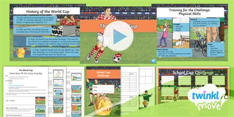 * New * Twinkl Move Pe  Ks2 The World Cup Active Assembly Football