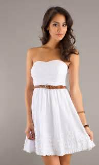 Short White Casual Summer Dresses