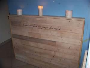 Lit En Palette A Vendre : tutoriel t te de lit en bois de r cup faire soi m me pinterest t tes de lit en bois ~ Teatrodelosmanantiales.com Idées de Décoration