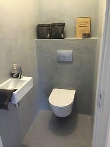 Beton Cire Berlin : toilet beton cire mijn woning pinterest g ste wc ~ Lizthompson.info Haus und Dekorationen