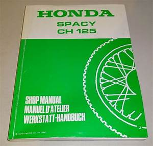 Workshop Manual Honda Spacy Ch 125  Stand 1988