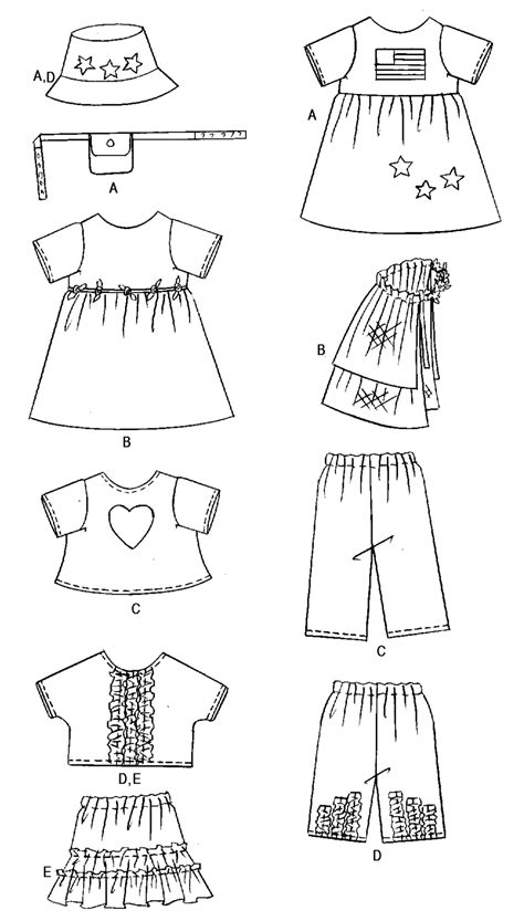butterick  ag doll clothes