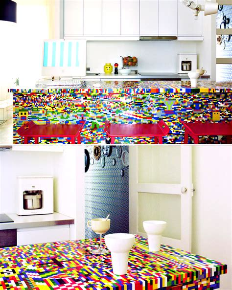 lego kitchen island 21 insanely cool diy lego furniture and home decor 3713