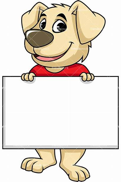 Holding Sign Dog Clipart Empty Character Mascot