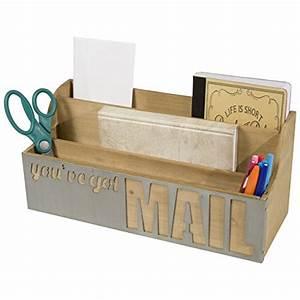 desktop wooden letter sorter with you39ve got mail metal With desktop letter sorter