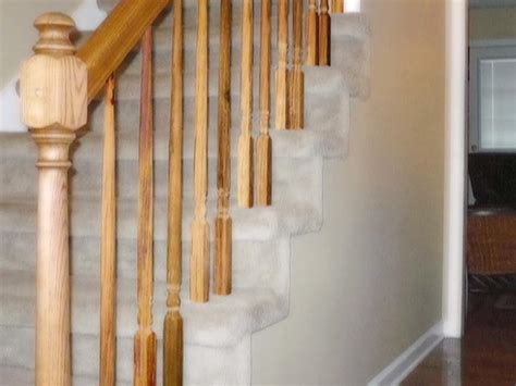 Wooden Banister by How To Stain A Banister How Tos Diy