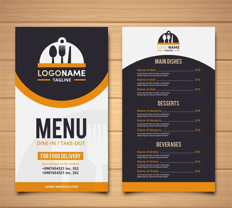 menu designs examples  psd ai ms word