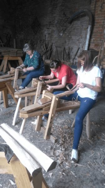 rustic carpentry green wood work stool making experience