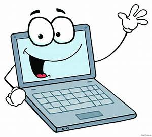 Computer clipart cartoon - Pencil and in color computer ...