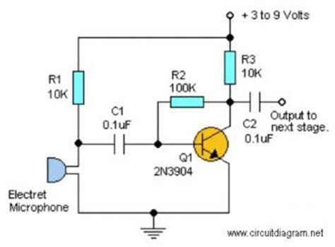Simple Audio Pre Amplifier Circuit Diagram