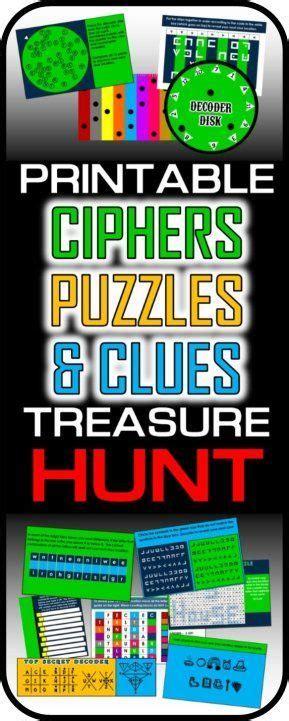 ciphers puzzles  codes treasure hunt escape puzzle