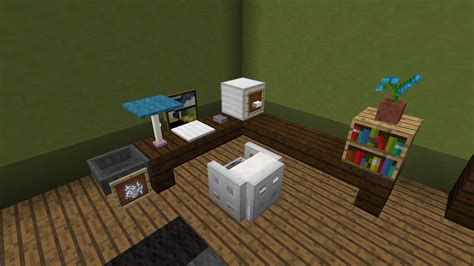 comment faire un bureau de chambre minecraft