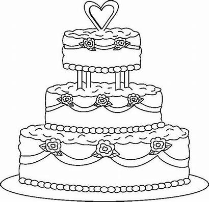 Coloring Cake Pages Colouring Princess Cakes Sheets