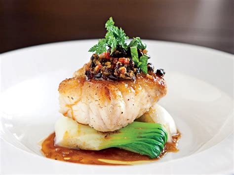 dining grouper grill bok choy sea experience table jg redefining vinaigrette roasted bean caught line oceandrive