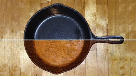 cast seasoning iron skillet clean cleaning cooking skillets pots restoration remove griddle stove iton