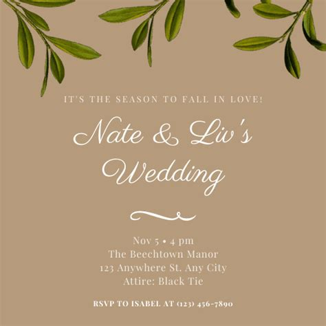 Design and Print Wedding Invitations on Canva