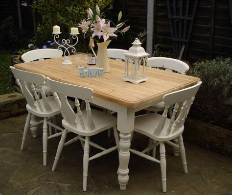 shabby chic country farmhouse pine table   chairs