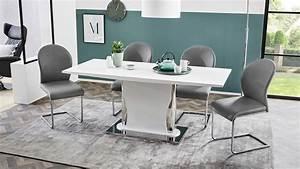 Tisch Weiß Hochglanz : esstisch nekos tisch esszimmertisch wei hochglanz ausziehbar 140 180 ~ Eleganceandgraceweddings.com Haus und Dekorationen
