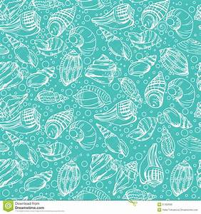 Vector Sea Pattern. Summer Background With Shell Elements ...