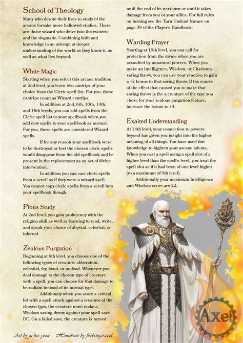 homebrew 5e dragons dungeons edition 5th faith dnd wizard wizards classes artist theology homebrewed races pdf tagged junk creations warrior