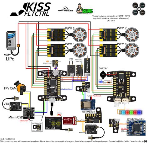 fc connection diagram keep it simple flyduino fcs escs