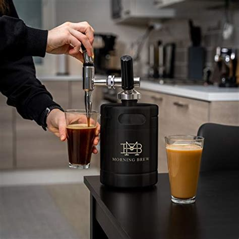 This model can make up to 19 servings (servings can be various, depend on tea or coffee. My Morning Brew Nitro Cold Brew Coffee Maker | Premium Portable Home Brewing Kit (Black) - Coffeenza