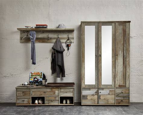 garderobe 3 tlg bonanza innostyle driftwood vintagelook dekor