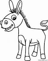 Mule Coloringall Coloring Cartoon sketch template
