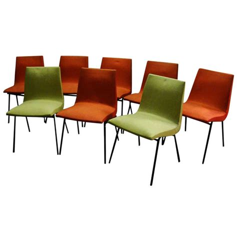 chaise tv paulin set of eight chairs by paulin original quot meubles tv quot edition 1954 at 1stdibs