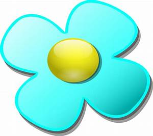 Light Blue Game Marble Flower Clip Art at Clker.com ...