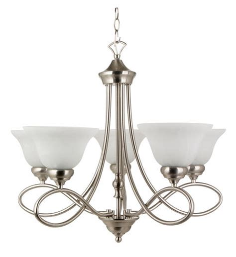kitchen light fixtures at menards patriot lighting rianto 5 light 22 quot h brushed nickel