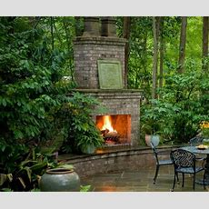 Slate Patio, Patio Seating And Brick Fireplaces On Pinterest