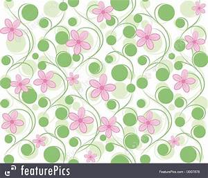 Abstract Patterns: Pink And Green Flower Background ...