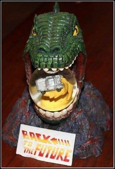 rare     future snow globe delorian dinosaur