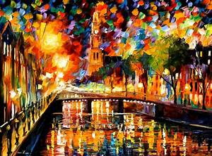 LIGHTS AND SHADOWS OF AMSTERDAM — PALETTE KNIFE Oil ...