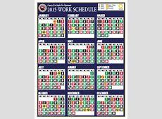 Calendar Template Fire Fighter Shifts – 2018 Calendar Template