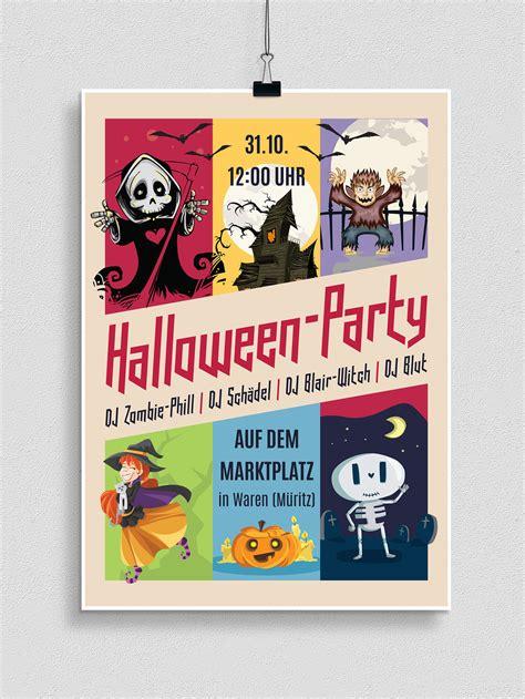 halloween vorlagen fuer plakat flyer einladung herunterladen