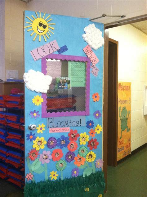 Spring Door Decorations For Daycare  Via Roxanne H