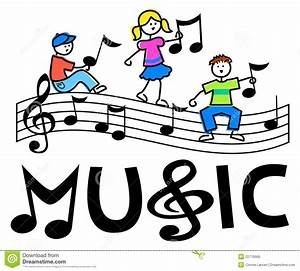 Musical clipart music class - Pencil and in color musical ...