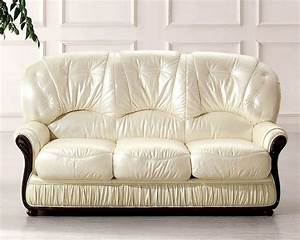 European Furniture Italian Leather Sofa Bed 33SS32