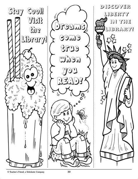 Bookmark Coloring Pages - Coloring Home