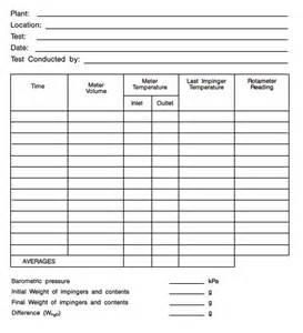 Expense Sheet Template Environment And Climate Change Canada Acts Regulations Reference Method For Source Testing