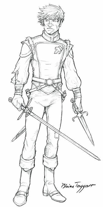 Duelist Character Deviantart Coloring Staino Pages Adult