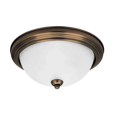 chrome flush mount ceiling light shop sea gull lighting 10 5 in w chrome led ceiling flush