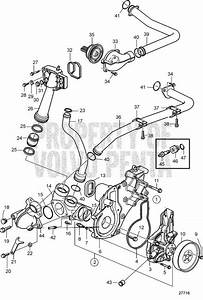 Volvo Penta Exploded View    Schematic Cooling Water Pump