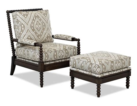 accent chair and ottoman set klaussner chairs and accents rocco accent chair and