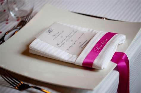 menu marque place pliage serviette deco table