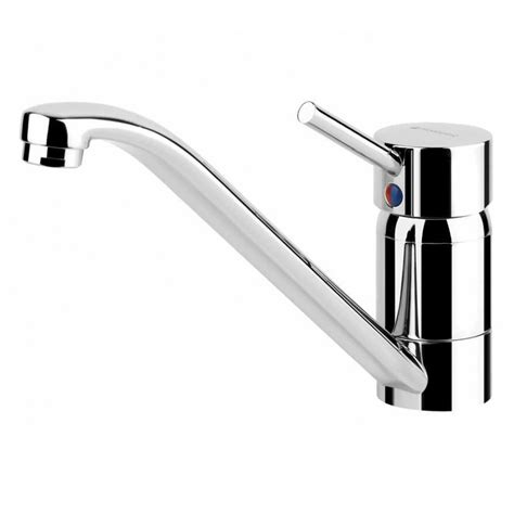 sink kitchen mixer tap stainless hotpoint steel bowl single drainer pack right overhead lever above 5cm left chrome thewrightbuy