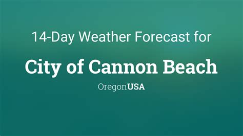 city  cannon beach oregon usa  day weather forecast